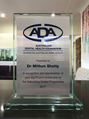 Bendigo Smiles Dentist | Dr. Mithun Shetty Award | Dentist Bendigo
