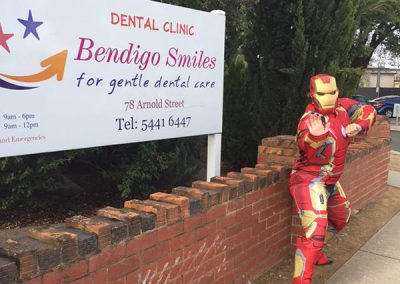 Bendigo Smiles Dentist Iron Man