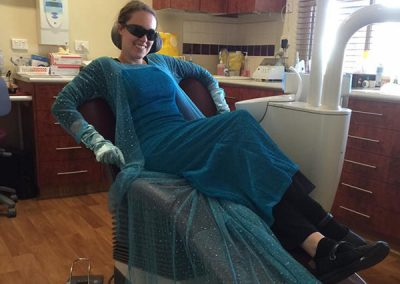 Bendigo Smiles Dentist Queen Elsa Cosplay