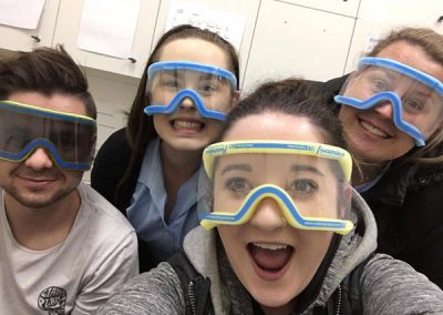 Bendigo Smiles Dentist Team Wearing Googles