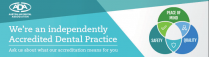 Bendigo Smiles Dentist | ADA Practice Dental Accreditation Banner | Dentist Bendigo